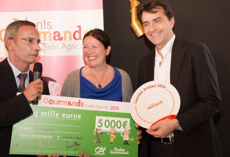 Yannick Alléno chef étoilé et Philippe Quintin rédacteur en chef du Bottin Gourmand, lors de la remise du prix TALENTS GOURMANDS
